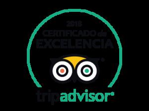 2018 - Certificado de Excelencia - TripAdvisor - Bravo Discovery