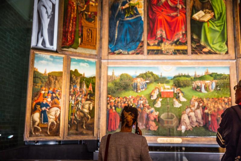 La Adoración del Cordero Místico - Excursión a Gante desde Bruselas - En imágenes.
