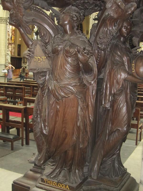 El púlpito de La Iglesia de San Santiago, Amberes.
