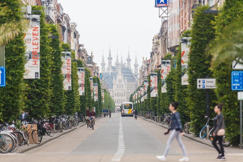 ¿Qué ver y hacer en Lovaina en un día?-Excursión a Lovaina desde Bruselas. Avenida Bondgenotenlaan - Lovaina