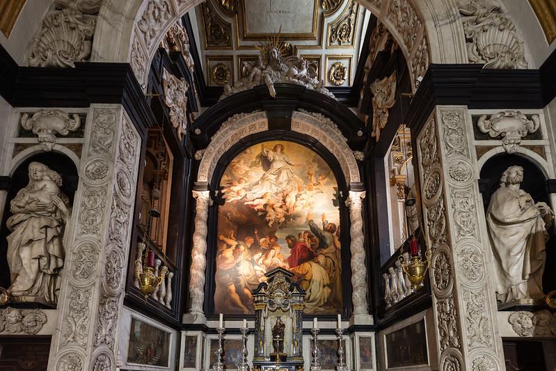 Capilla de la virgen Maria en la iglesia de San Carlos Borromeo
