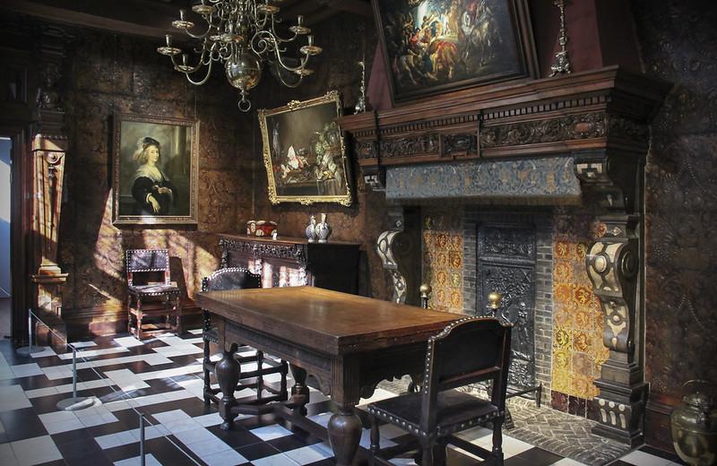 Casa de Rubens Amberes interior Chimenea