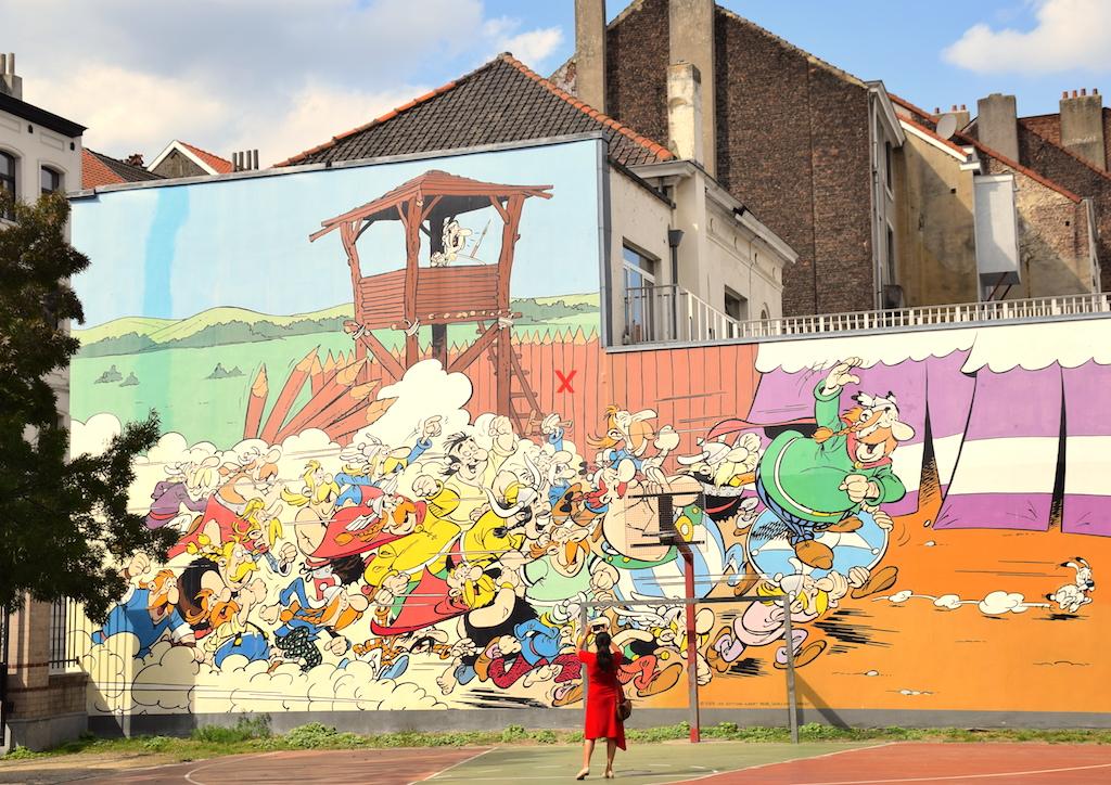 Circuito de los murales de cómics en Bruselas.