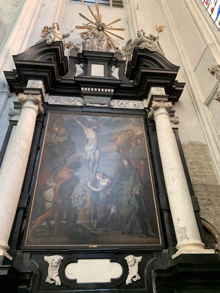 Cristo en la Cruz de Anton van Dyck - Catedral de San Rumoldo de Malinas