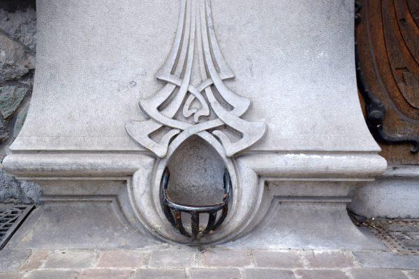 Décrottoir Art Nouveau - Bruselas.