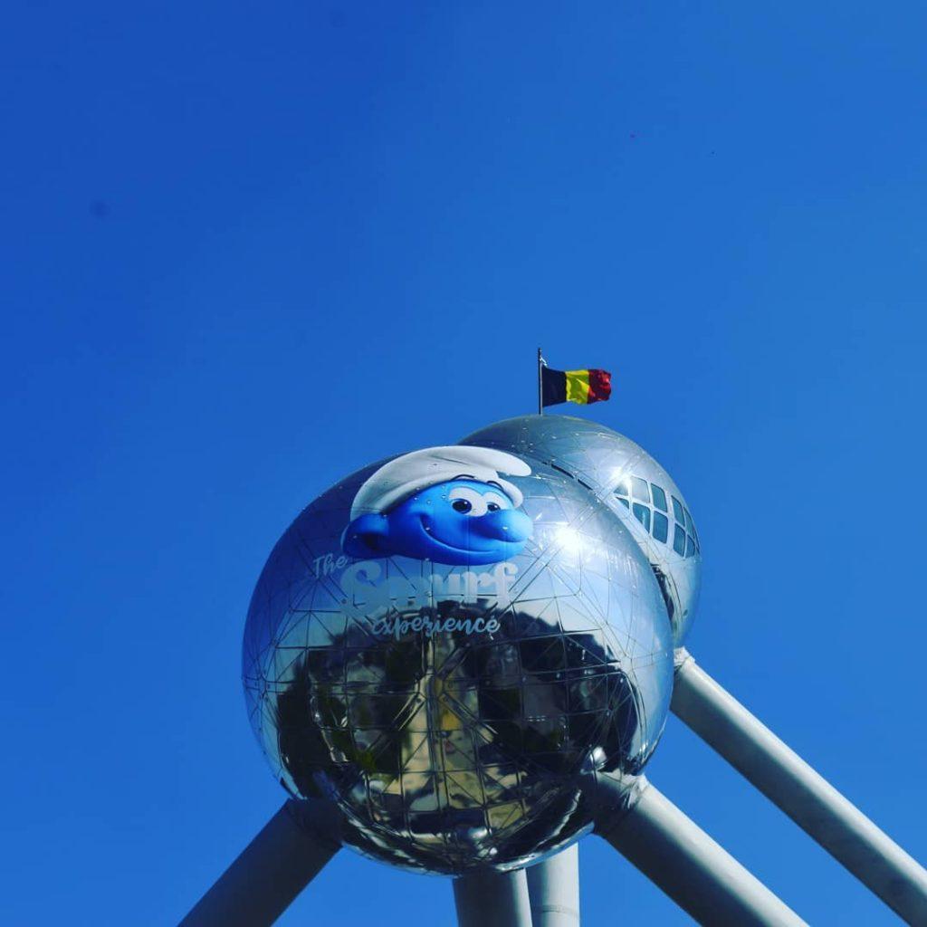 El Atomium de Bruselas - Festival del Comic en Bruselas