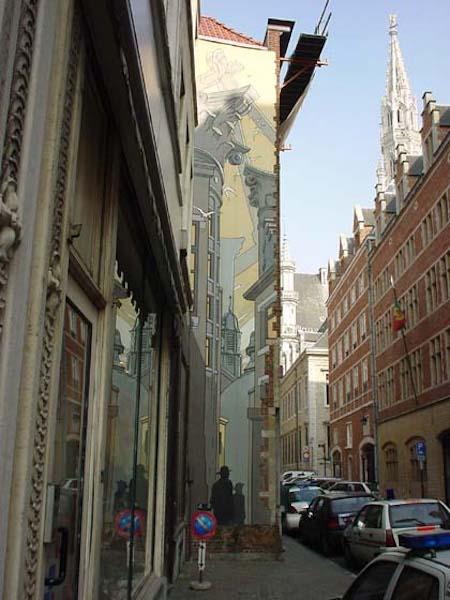 El Mural Schuiten – Le Passage- Circuito de los murales del cómics en Bruselas
