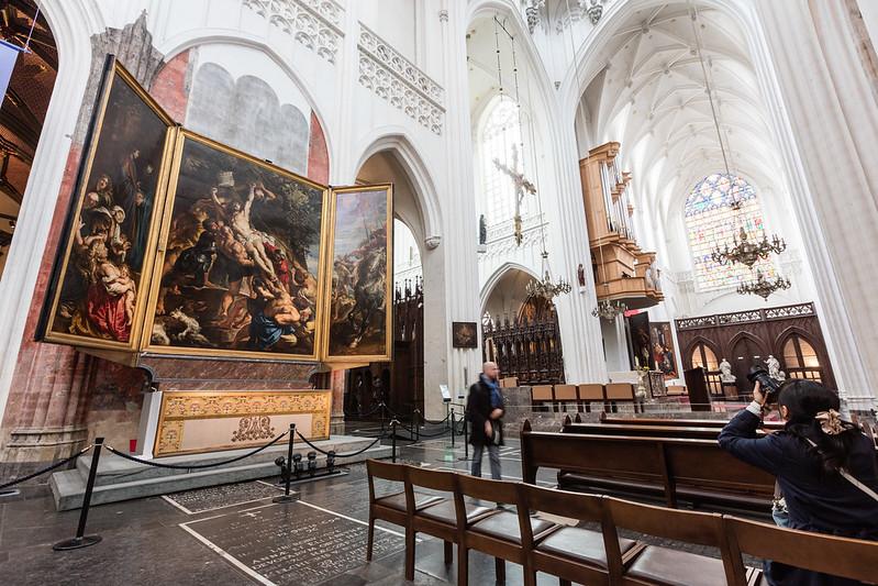 Catedral de Nuestra Señora (Amberes). La erección de la Cruz, Rubens.