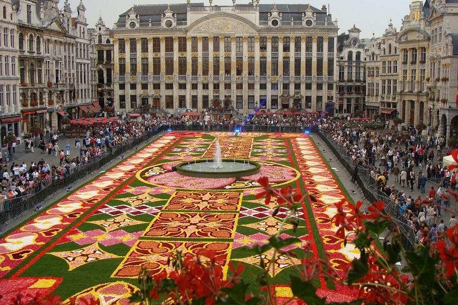 Alfombra de flores Bruselas - La Grand-Place de Bruselas