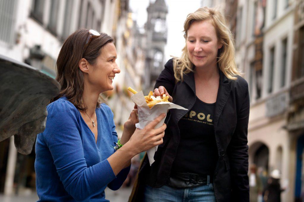 French fries Bruselas