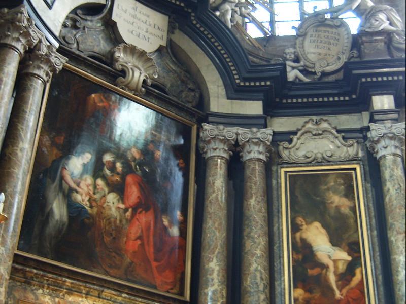 La Iglesia de San Juan, Malinas Bélgica - La Adoración de los Reyes Magos.