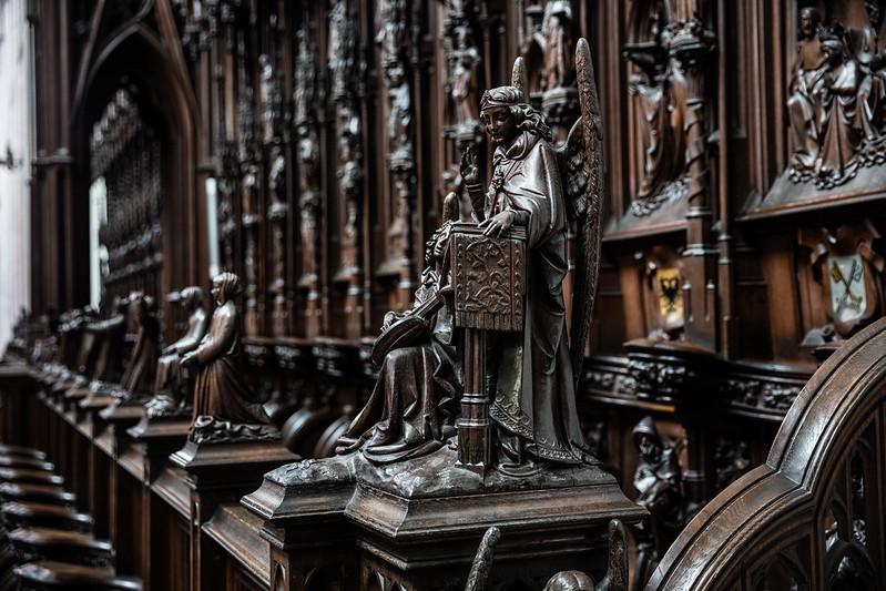 ¿Que ver y hacer en Amberes en  día?-Los confesionarios barrocos - iglesia de San Carlos Borromeo Amberes.