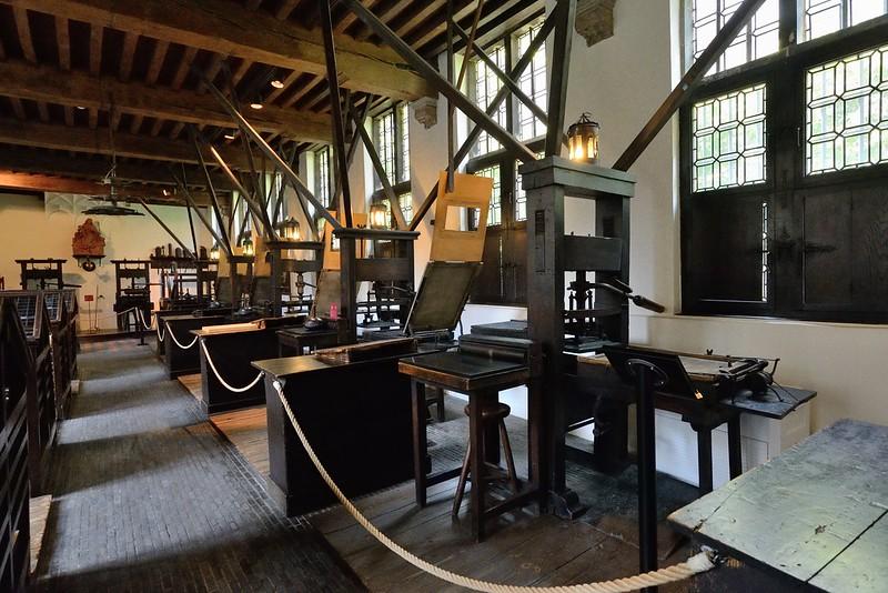 Museo Plantin-Moretus. Aquí se pueden admirar las imprentas más antiguas del mundo.