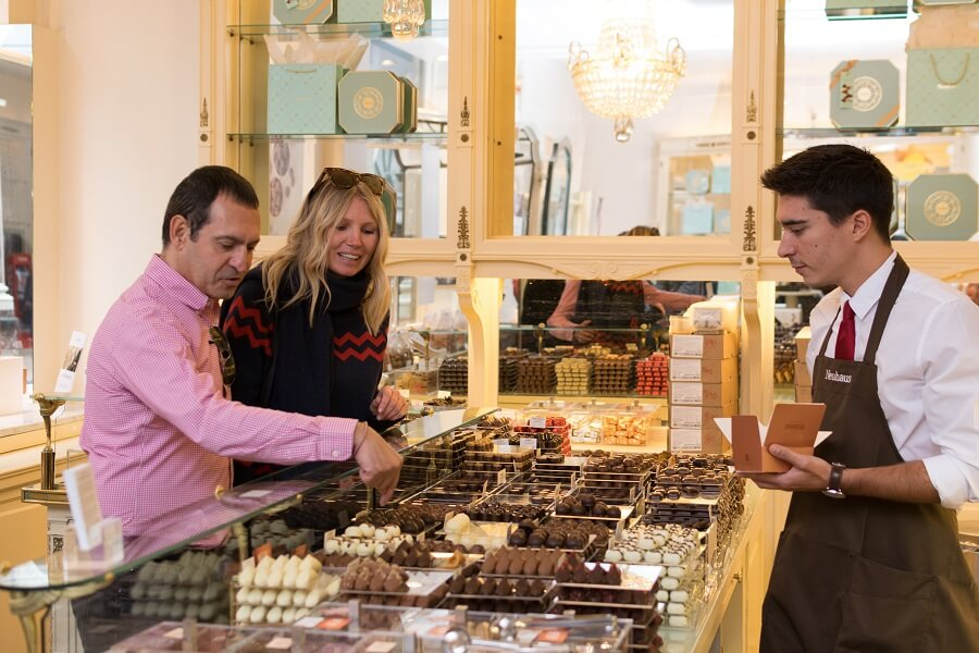 Neuhaus Chocolates - Tour del Chocolate belga en Bruselas.