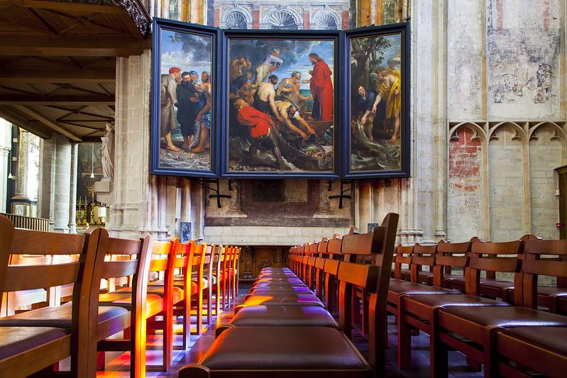Ruben, La Pezca Milagrosa - Iglesia de Nuestra Señora sobre el Dyle - Malinas Bélgica.