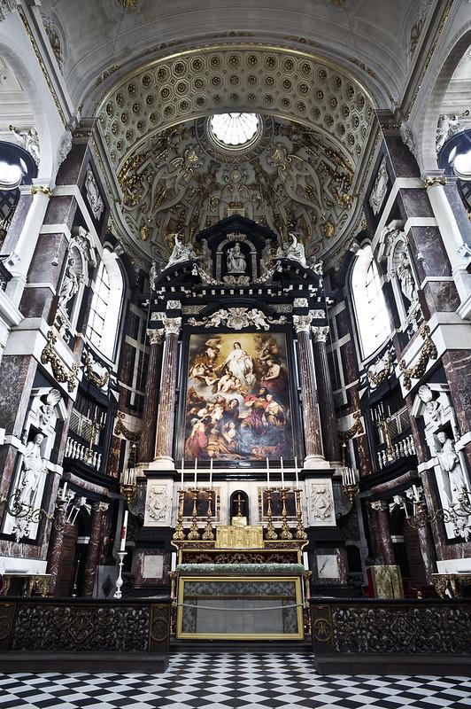 Iglesia de San Carlos Borromeo, la capilla St Maria - Amberes.