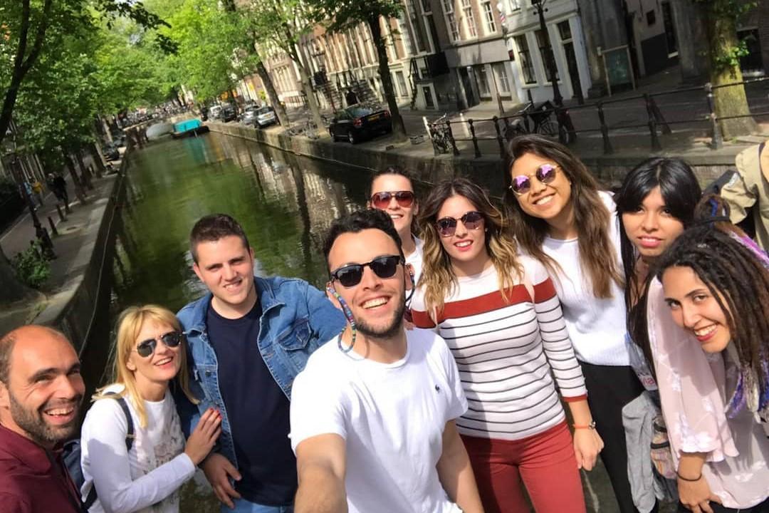 Selfie - Tour gratis por Ámsterdam - Canales de Ámsterdam.