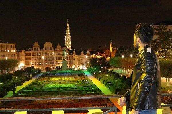 Tour nocturno de Bruselas - Le Mont des arts Bruselas
