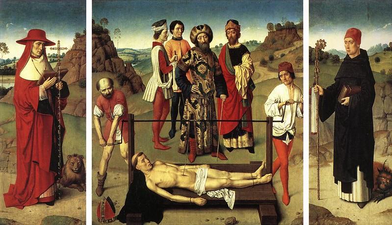 ¿Qué ver y hacer en Lovaina en un día?-Tríptico del Martirio de San Erasmo: 1450 – 1460. Dieric Bouts. Lovaina Bélgica.