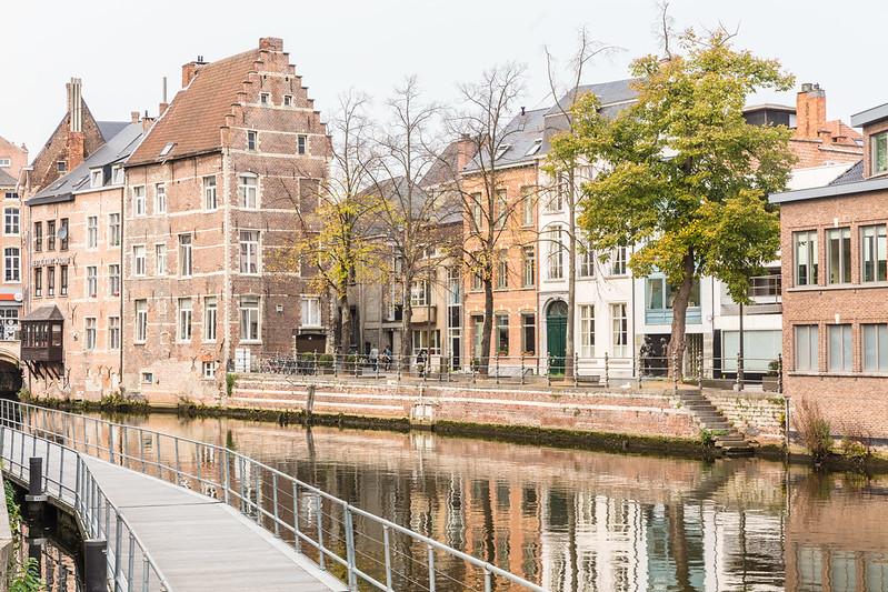 Vivir a orillas del Dyle, Malinas Bélgica. Vista del canal.