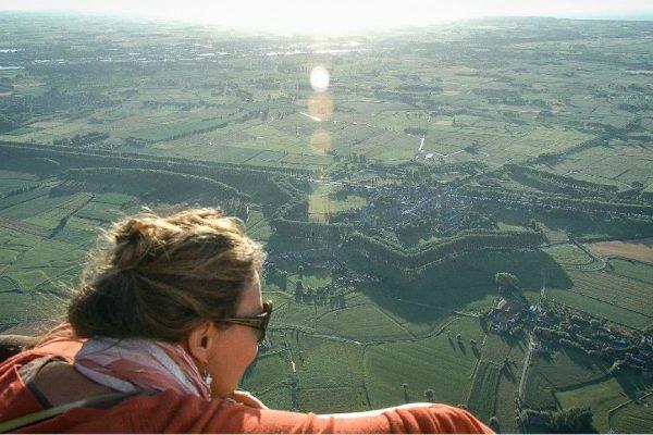 Vuelo en globo aerostático sobre la ciudad de Brujas y sus alrededores