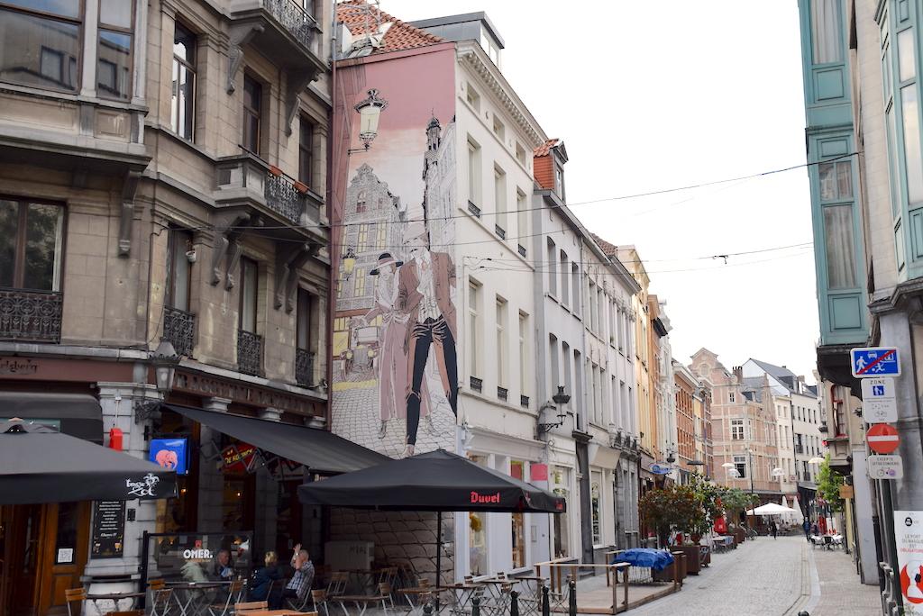 Circuito de los murales de cómics en Bruselas, Mural Carin – Victor Sackville.
