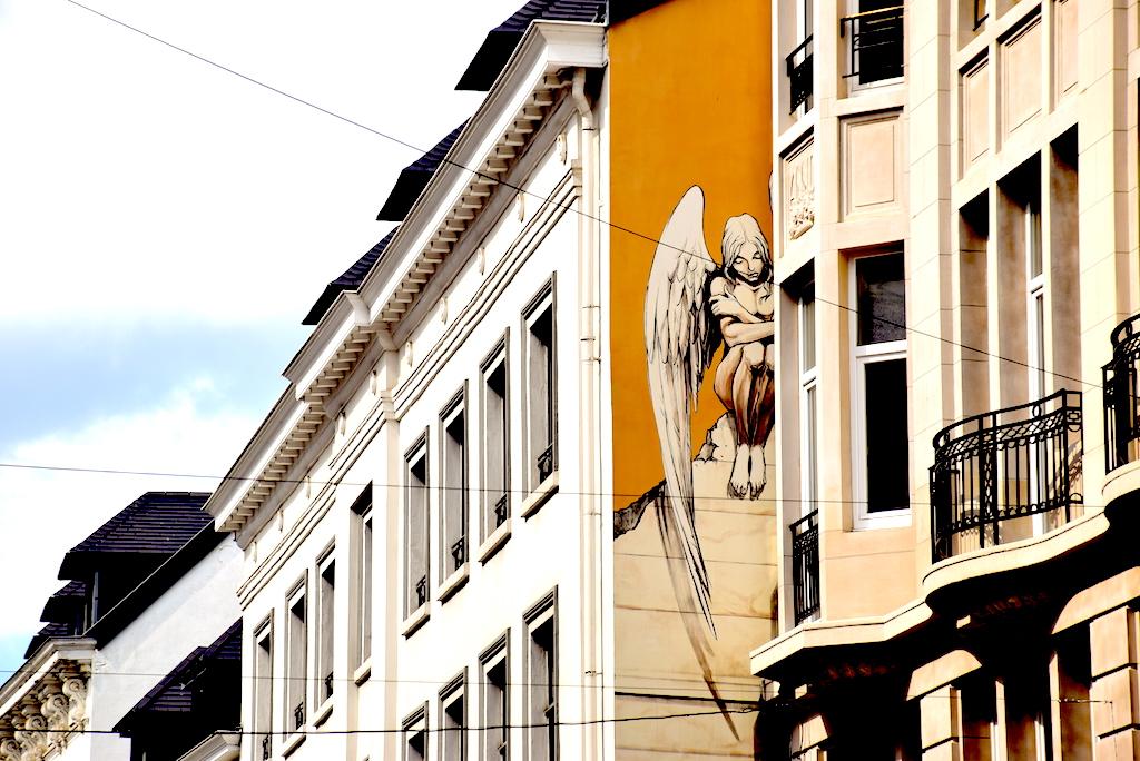 Circuito de los murales de cómics en Bruselas, Mural -Mural Yslaire – El ángel de Sambre.