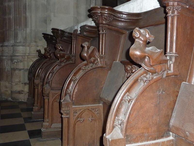 Las sillas del coro. Iglesia de San Pedro (Sint-Pieterskerk). Lovaina Bélgica.