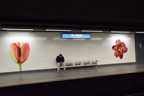 Art dans le métro de Bruxelles – Station de métro Sainte-Catherine, Œuvre Millefeuille