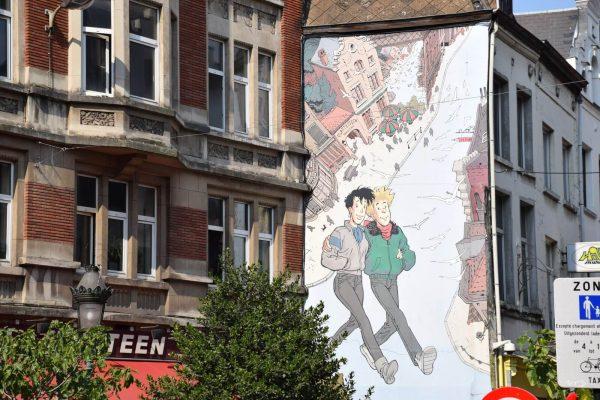 Mur BD Broussaille - Le parcours de la BD à Bruxelles.
