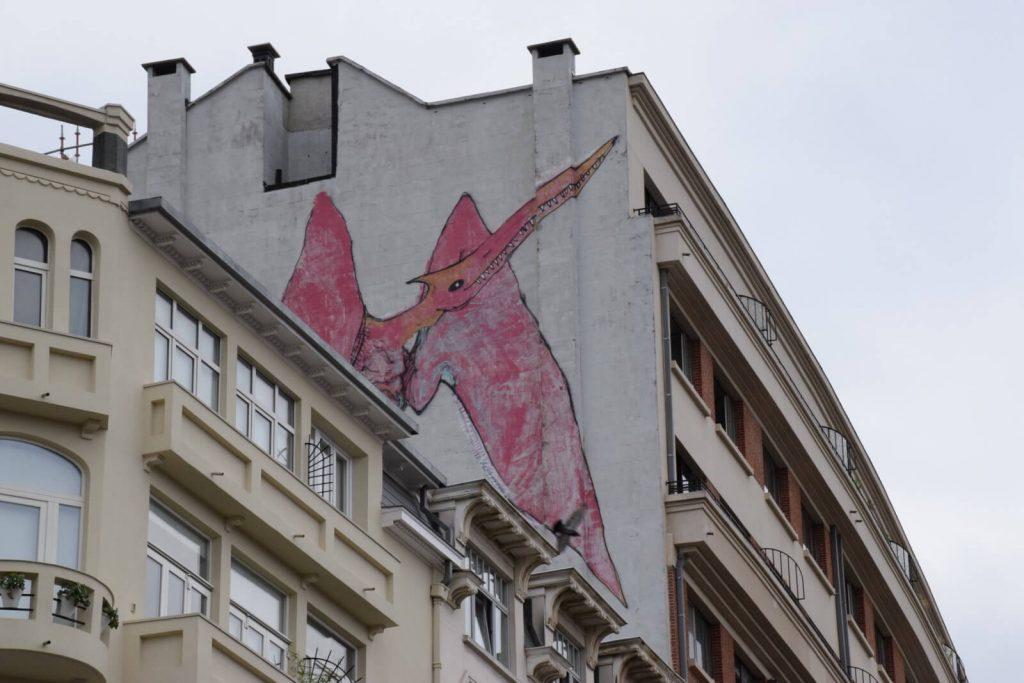 Fresque Ptérodactyle - Le street art à Bruxelles