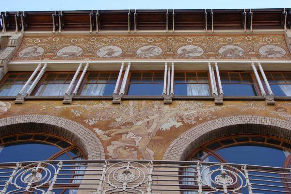 Maison A. Ciamberlani, construit par Paul Hankar en 1897 - Art Nouveau Bruxelles.
