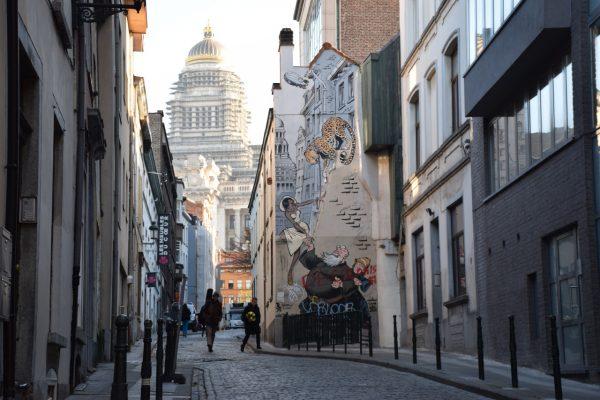 Le Palais de justice de Bruxelles –Murale de les Marolles (Odilon Verjus)