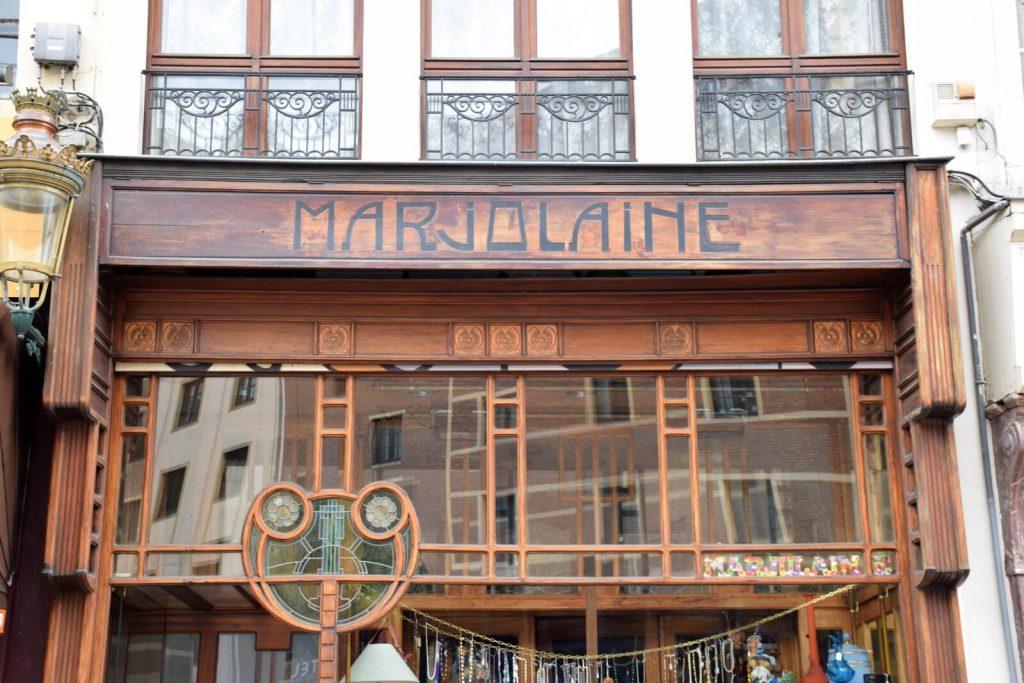 Magasin Marjolaine en style Art Nouveau - Visite gratuite Art Nouveau Bruxelles.
