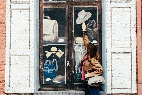 Peinture murale - Quartier des Marolles à Bruxelles.