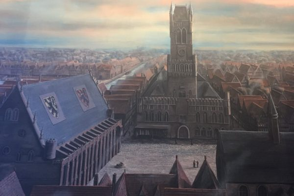 Illustration de Bruges en 1435