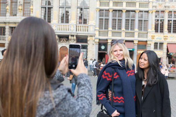 Selfie à la Grand-Place de Bruxelles.