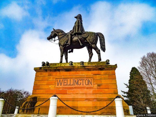 Statue équestre du Duc de Wellington - Billet d'entrée pour le musée Wellington à Waterloo