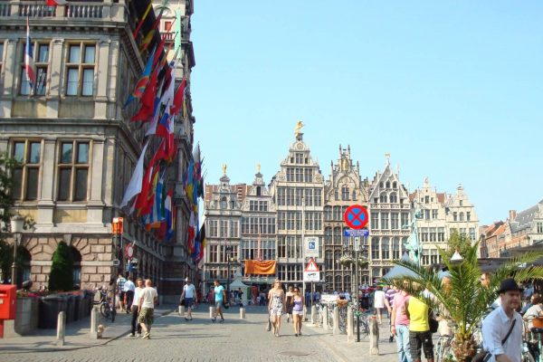 Antwerp Market Square - Guild houses Antwerp - Private tour of Antwerp.