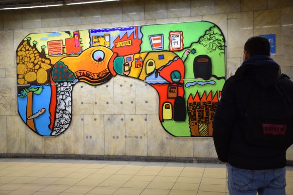 Art in the Brussels metro