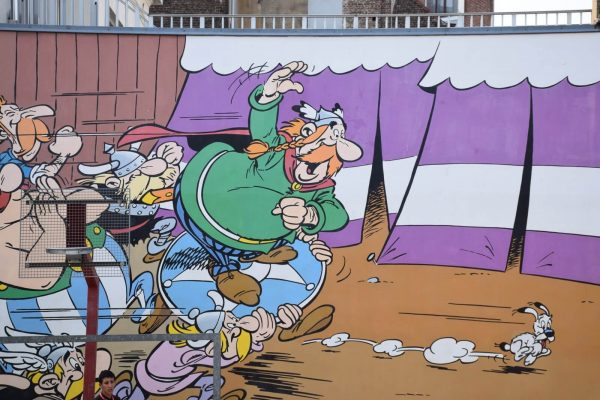 Comic Book wall Asterix and Obelix - Comic Book Route Brussels