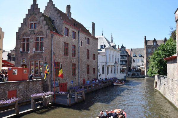 Cruising Bruges' canals