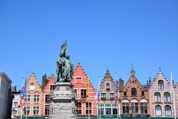 The Market Square (Markt) - Statues of Jan Breydel and Pieter de Coninck.