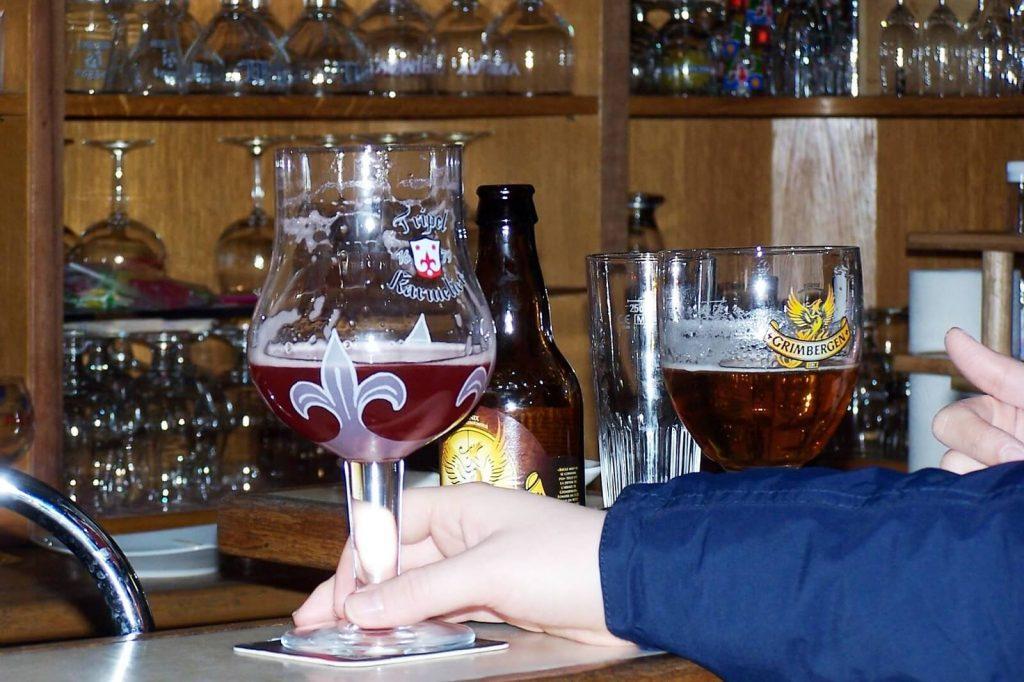 Tripel Karmeliet and Grinbergen - Belgian Beers - Beer tasting tour Brussels.